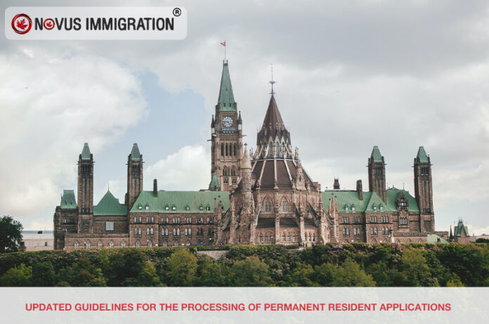 Updated Guidelines for the Processing of Permanent Resident Applications