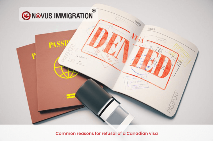 Common reasons for refusal of a Canadian visa