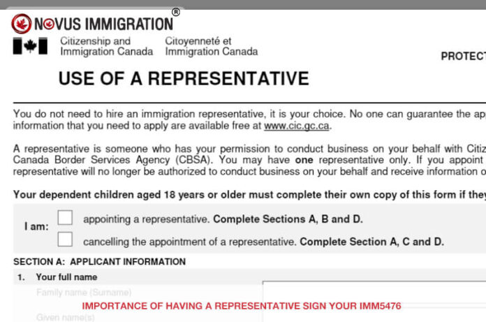 Importance of Having a Representative Sign Your Imm5476