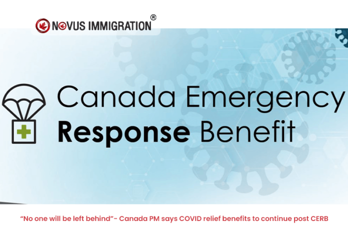 No one will be left behind Canada PM says COVID relief benefits to continue post CERB