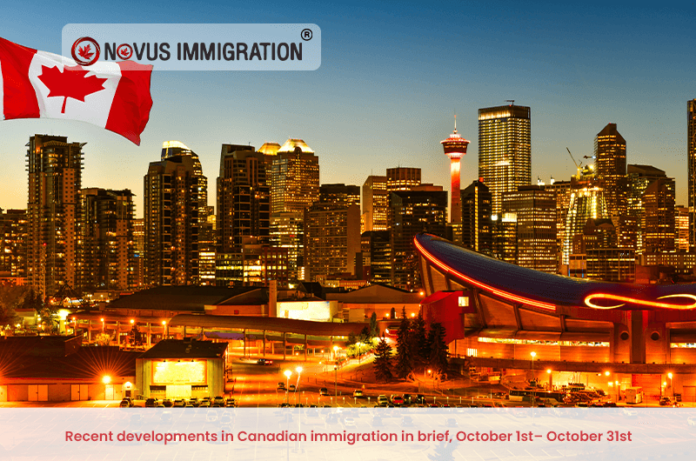 Recent developments in Canadian immigration in brief, October 1st– October 31st